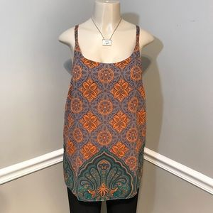 CAbi Arabesque Cami Adjustable Strap Tank  Medium